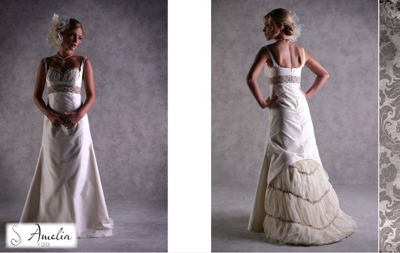 Corset and English styled wedding gown from Alisa Benay