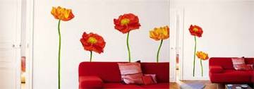flower wall art living room