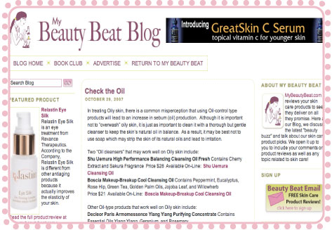 My Beauty Beat's new blog by Katie James Pixelated